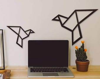 Origami Birds Metal Wall Art