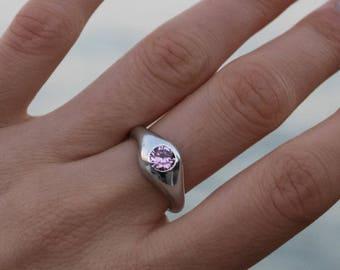 29611370741f Pink zircon ring