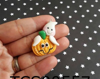 Ghost on Pumpkin TCS00557