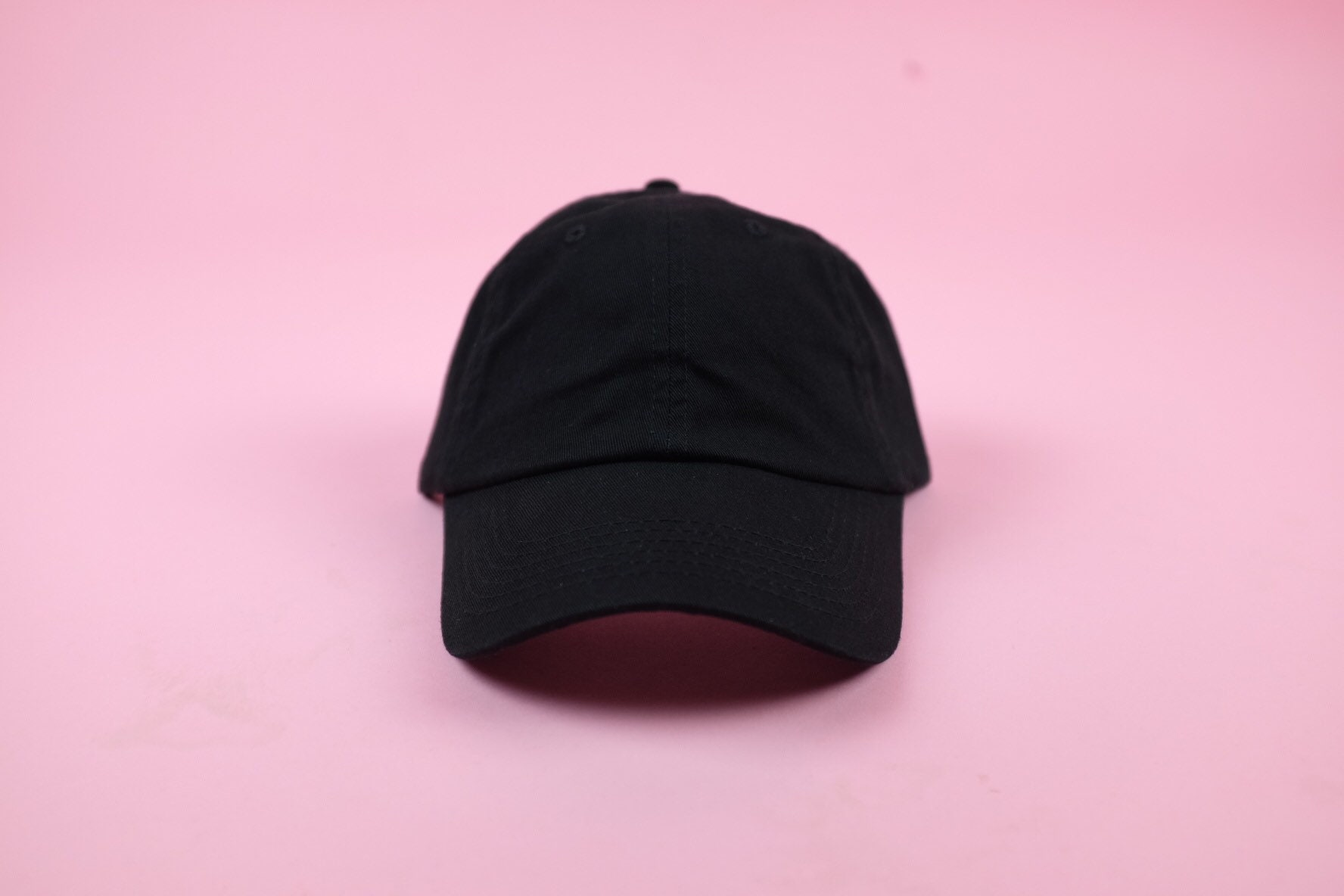 96e02df439c5d Black Hat Curved Brim Six Panel Hat Blank Hat Polo Hat