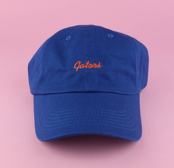 GATORS Hat Blue Orange Embroidered Dad Hat University Of  6a5b01aab39