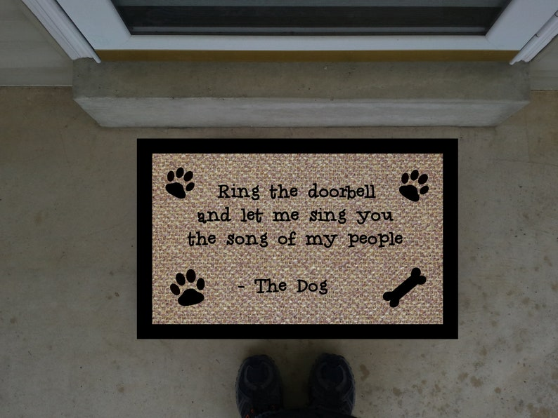 Let Me sing You The Song Of My People Doormat / Please read all of the  description!