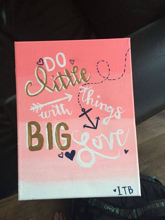 Big Little Reveal Sorority Love Quote Canvas