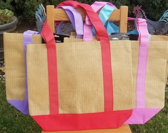 Blank Tote Bags for Embroidery, Polyester Tote bag, Embroidery Blank Purse for monograms and embroidery designs. These totes are BLANK!