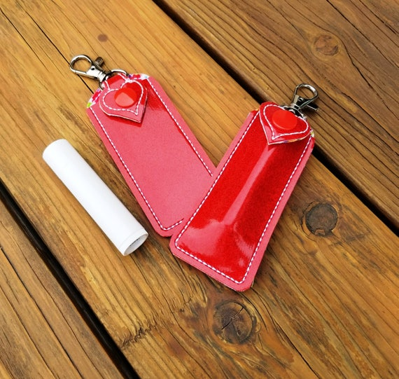 Boho Rainbow Lip Balm Holder Lip Balm Key Chain Case