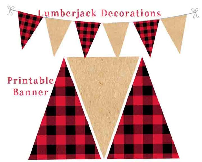 Lumberjack Banner Printable Banner Lumberjack Decorations ...