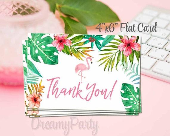 Invitation Anniversaire Tropical Flamingo Invitation Invitation D