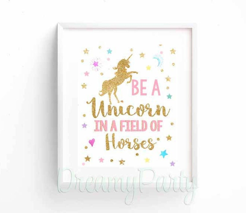 graphic relating to Be a Unicorn in a Field of Horses Free Printable identify Unicorn Birthday Indicator, Unicorn Celebration Decor, Be a Unicorn Within just a Market of Horses Wall Artwork Print, Unicorn Nursery, 8\