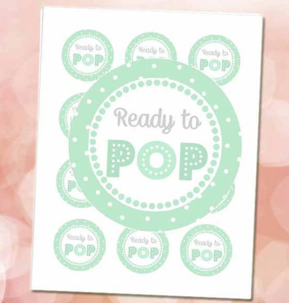 Ready To Pop Stickers Mint 2 Circles