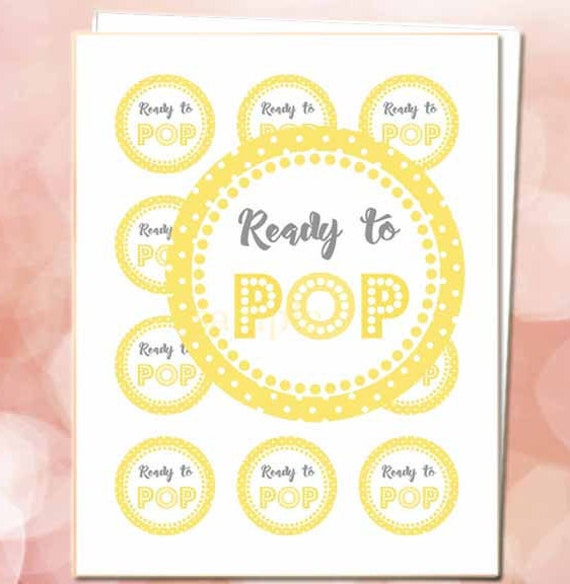 Ready To Pop Sticker Yellow 2 Circles