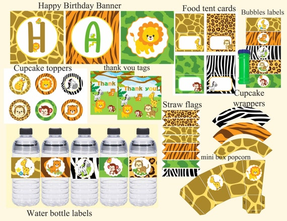 Safari Birthday Party Package Decorations
