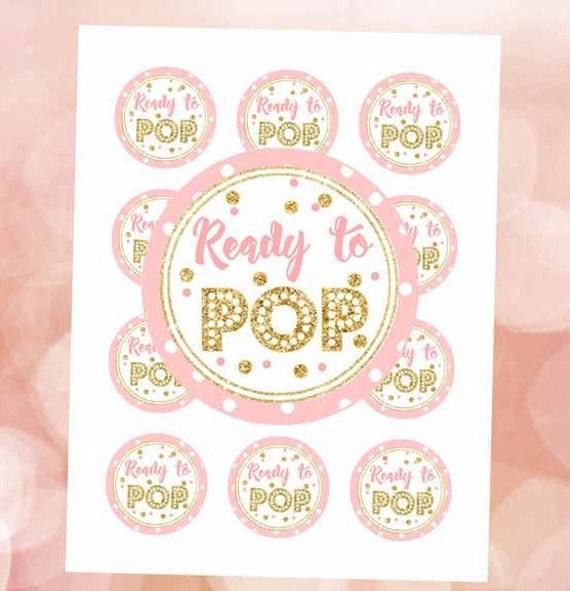 Ready To Pop Sticker Pink And Gold 2