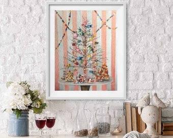 Candy land , pink Christmas Fine Art print