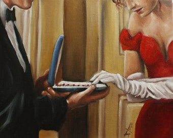 Pretty woman Art print , limited time  Valentine art collection ,couple love art