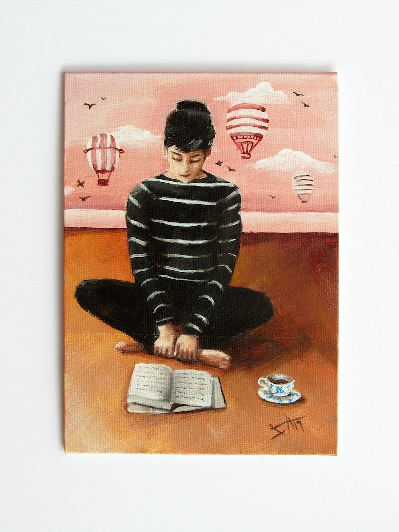 Audrey Hepburn inspired Art print 8x10 image 0