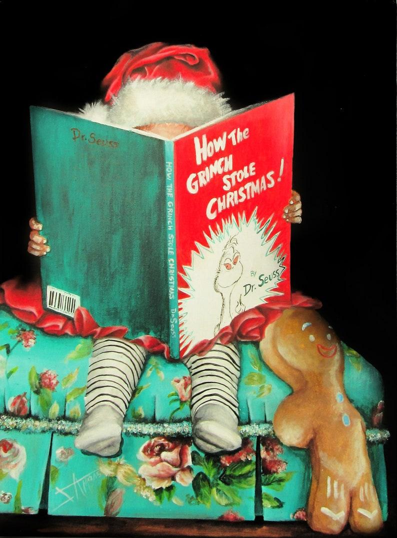 Christmas art Decoration Prints from original Christmas Grinch image 0