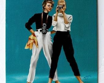 retro girls fashion art