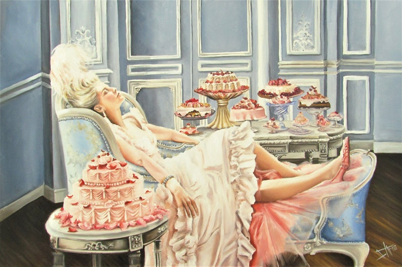 Marie Antoinette Print from original painting   let them eat image 0