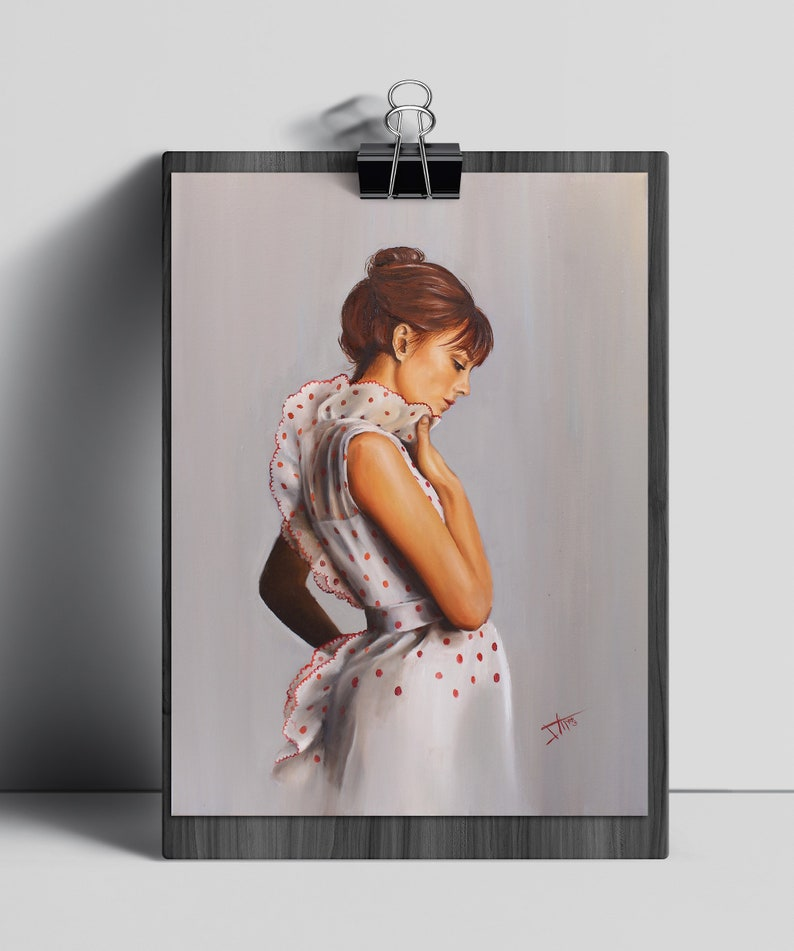 Jane Birkin Art print  wall art from original painting image 0