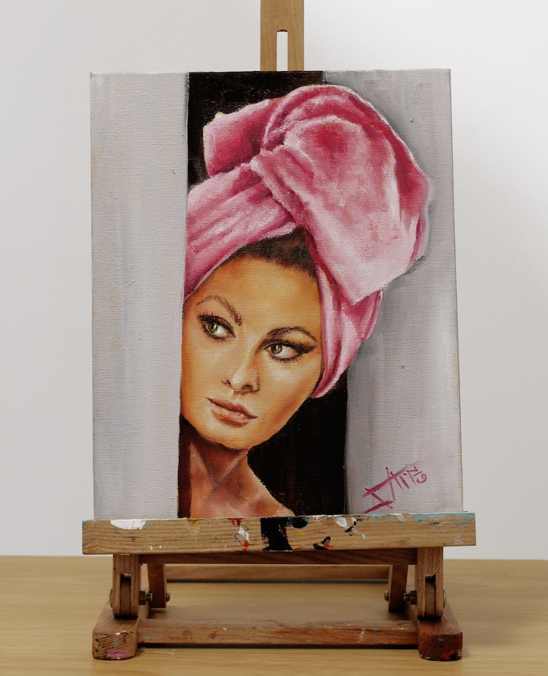 Sophia Loren Art print Vintage movie star Hollywood glam image 0