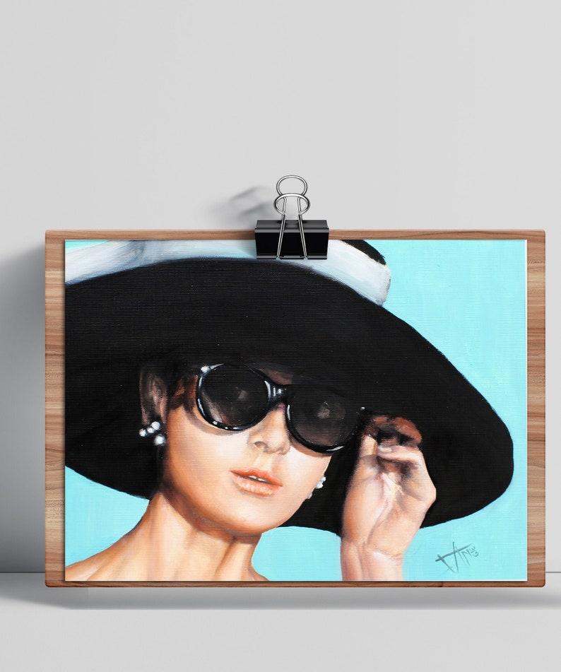 Audrey Hepburn Art print  Breakfast at Tiffany's  fashion image 0