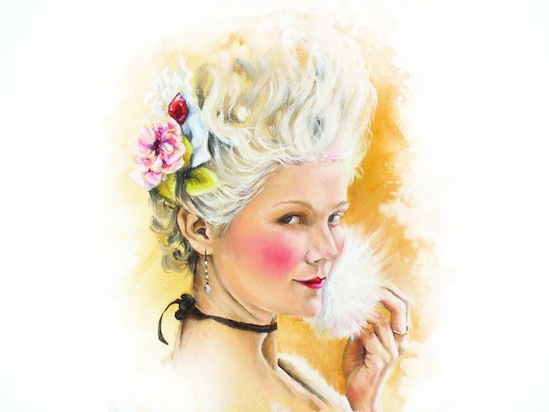 Marie Antoinette art print PUFFrococo art  let them eat cake image 0