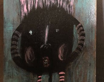 "ACEO Original Acrylic Painting ""Squeak"""