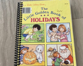 Little Golden Book, Holidays, Handmade, Upcycled, Repurposed, Journal, Last Minute, Blank Pages, Storybook, Diary, Sketchbook