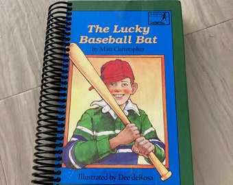 My Lucky Baseball Bat, Handmade, Upcycled, Repurposed, Journal, Last Minute, Blank Pages, Storybook, Diary, Sketchbook