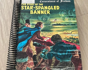 Star Spangled Banner, America, History, United States, Handmade, Upcycled, Repurposed, Journal, Blank Pages, Storybook, Diary, Sketchbook