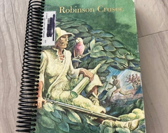 Robinson Cruso, Classic, Handmade, Upcycled, Repurposed, Journal, Last Minute, Blank Pages, Storybook, Diary, Sketchbook