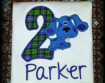 Personalized Blues Clues Birthday Shirt - First Birthday - Second Birthday - Third Birthday - Blues Birthday