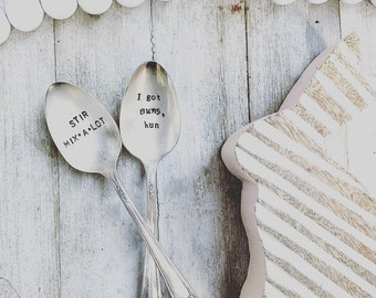 Stamped spoon Mama bear Gifts for mom Keepsake Stamped silverware Handstamped silver spoon Thoughtful gift for her Rustic spoon