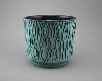Turquoise cache pot | Etsy