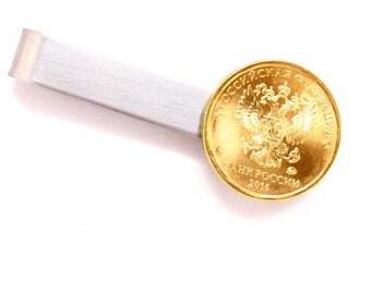 Italy Coin Tie Clip