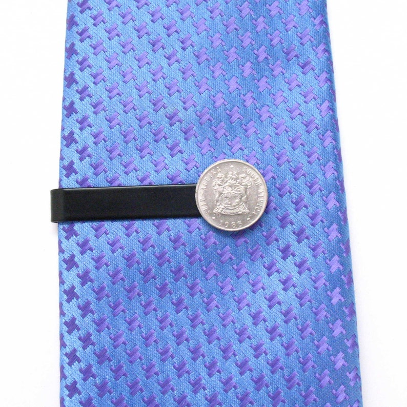 South Africa Coin Tie Bar Clip Tiebar Tieclip Suit Vintage South Afrika