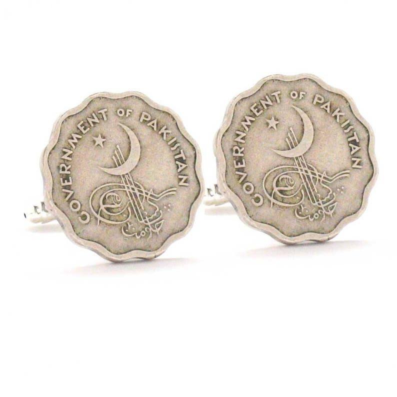 Pakistan Coin Cufflinks Cuff Links Flag Islamabad Muslim Islam Islamic  India paakistaan bakistan Middle East