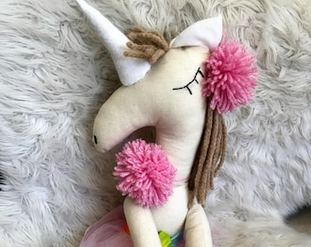 Unicorn Doll, Soft Doll, Dolls, Animal Doll, Cloth Doll, Handmade Doll, Unicorn, Animal Character Doll, Fabric Doll, Unicorns, Horse Doll