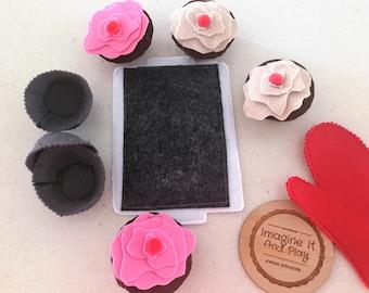 Cherry On Top Cupcake Baking Set, kids baking set, cupcake set, pretend baking set, cupcake baking set, childs cooking set