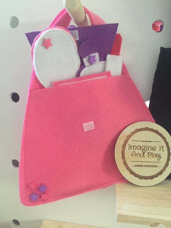 Beauty Bag Playset Kids Beauty Set Kids Makeup Set Pretend Etsy