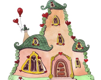 House with hearts