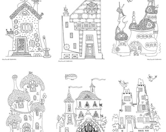 Fantasy Houses Coloring Pages