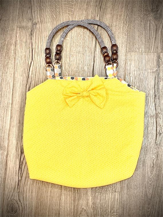 Custom hobo handbag | bamboo handle purse | shoulder bag