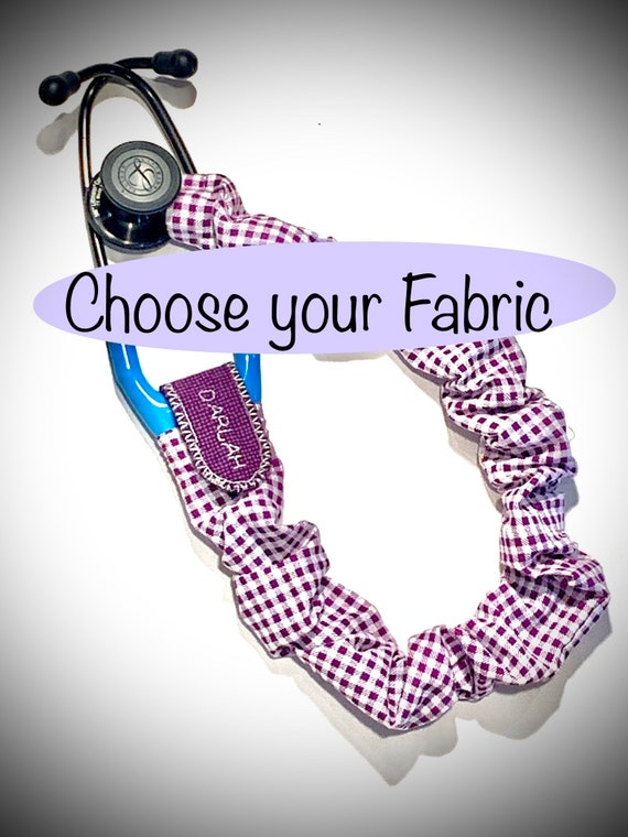 Personalized Custom Stethoscope Covers | Personalized Protective Scrunchie Holder