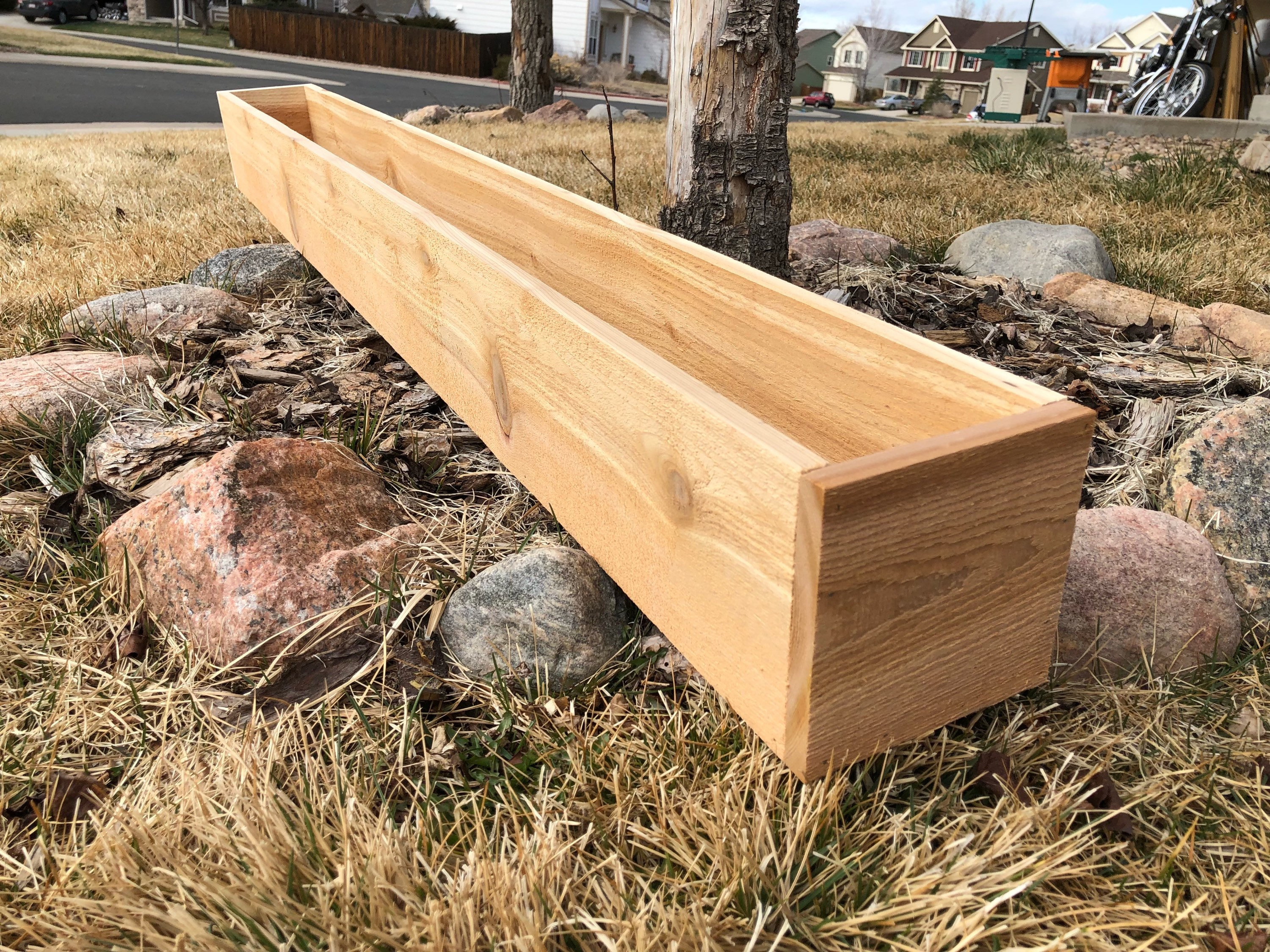 Rectangular Cedar Planter Window Boxes Etsy