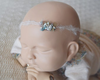 "Newborn headband ""Anna""-newborn headband-newborn props-newborn girl headband-newborn photo props -newborn girl props-newborn girl outfit"