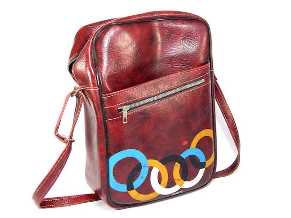 Vintage shoulder bag, Shoulder Bag, Vinyl Shoulder