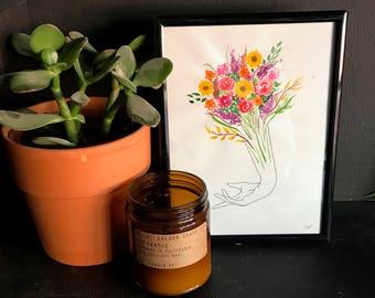 Floral Hand Original Artwork