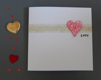 Handmade Love, Anniversary,Valentine,Birthday,Wedding, Greetings card