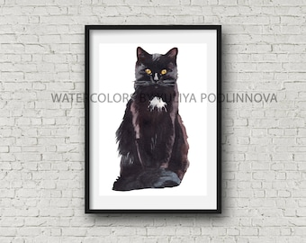 Black Cat Clipart Etsy